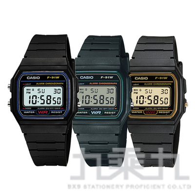 CASIO Digital手錶 F-91W