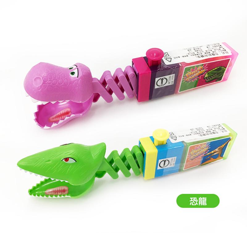 統記恐龍鉗玩具+糖果18g