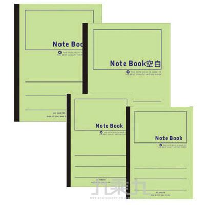 13K綠色平裝筆記本40頁 3PF11040