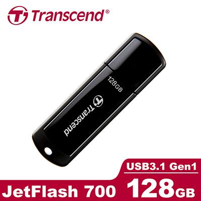 創見 128G USB3.1 極速隨身碟-黑(高速介面) JF700