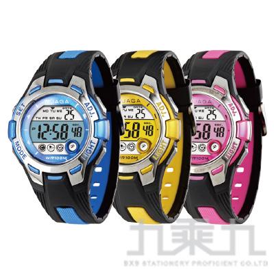 捷卡 冷光電子女錶 M998