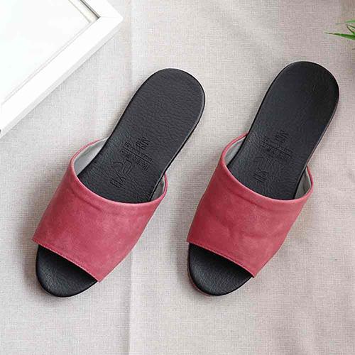 經典室內皮拖鞋 06020