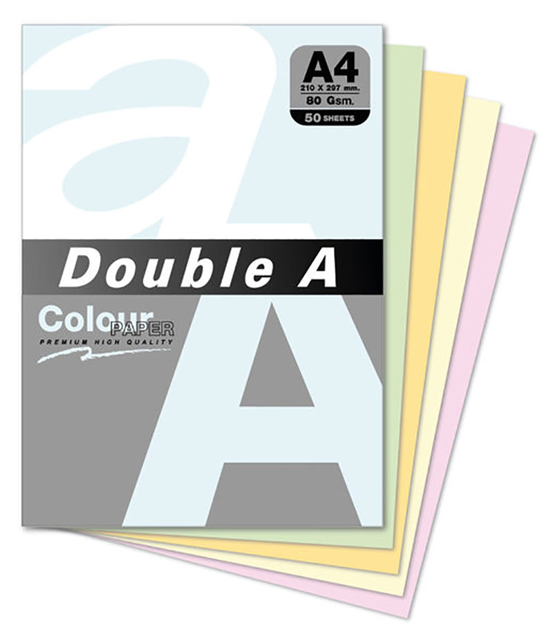 DOUBLE A-A4多功能色紙-50 SHEETS