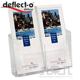 迪多 deflect-o雙格低背目錄架  74501