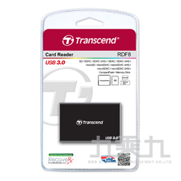 創見USB3.0讀卡機 Multi Reader-黑 TS-RDF8K