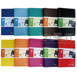 6孔活頁攜帶式名片本﹙藍﹚ PCA-146-7