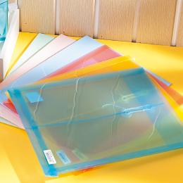 誌揚 A4 PP 公文袋-粉藍﹙偏紫﹚