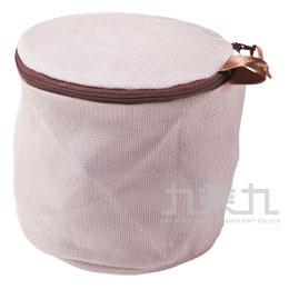 咖啡色雙層內衣袋圓型