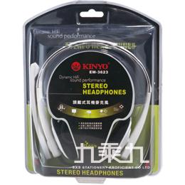 KINYO頭戴式 耳機麥克風EM3623