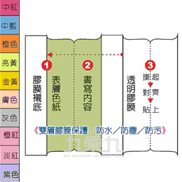 深色十彩索引片DD-1