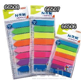 N次貼螢光透明標籤﹙8色﹚  66508