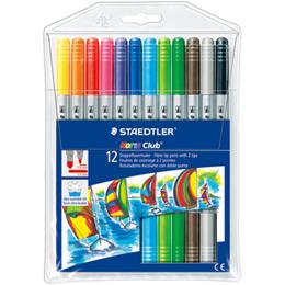 施德樓 快樂學園 雙頭水易洗彩色筆 12色 MS320NWP12
