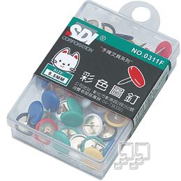 SDI 手牌 彩色圖釘9.5mm