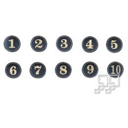 沙蒙燙金圓桌牌(數字)