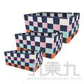 (+119)長方形三件式收納籃(多色隨機) 1組