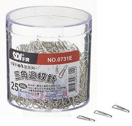 SDI 三角迴紋針 25.4mm 0731E (塑盒裝)