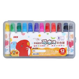 SKB 可水洗彩色筆12色(顏色隨機)