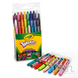 Crayola迷你袋裝旋轉蠟筆經典色24色