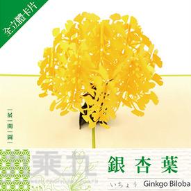 立體卡片 Ginkgo Biloba 銀杏葉 15*15