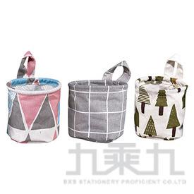 (1908滿4099)棉麻圓筒收納袋(多款隨機) 1個