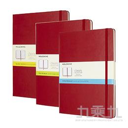(可燙金) MOLESKINE 經典紅色硬殼筆記本-XL