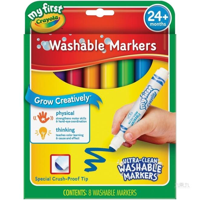 Crayola 幼兒可水洗彩色筆8色 81-1324