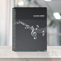 30孔樂譜夾活頁資料簿-鋼琴黑 EZ11-MB20