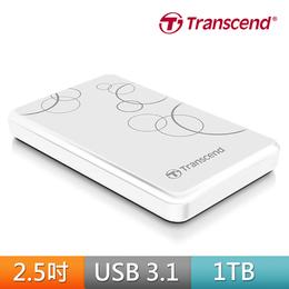 創見1TB USB3.1 外接硬碟A3 (白)