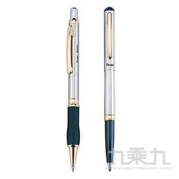 Pentel不銹鋼高級對筆組BR460G-A