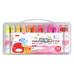 SKB 可水洗彩色筆24色(顏色隨機)