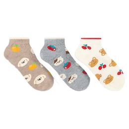 韓國短襪-滿版可愛動物蔬果