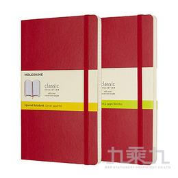 MOLESKINE 經典紅色軟皮筆記本-L型 ML854658