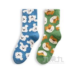 韓國中筒襪-滿版狗狗