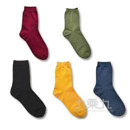 韓國中筒襪-純色條紋-酒紅