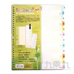 DATABANK 加大12段PP隔頁片(數字) D-VID12P