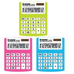 E-MORE 彩色繽紛計算機MS-88V(12位)(顏色隨機出貨)