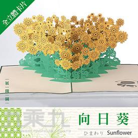 立體卡片 Sunflower/向日葵 15*15
